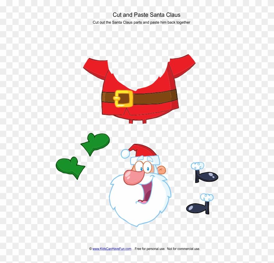 Cut And Paste Santa Claus Worksheet.