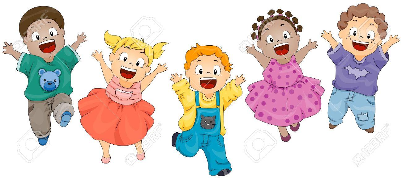 Jumping Kids Clipart.
