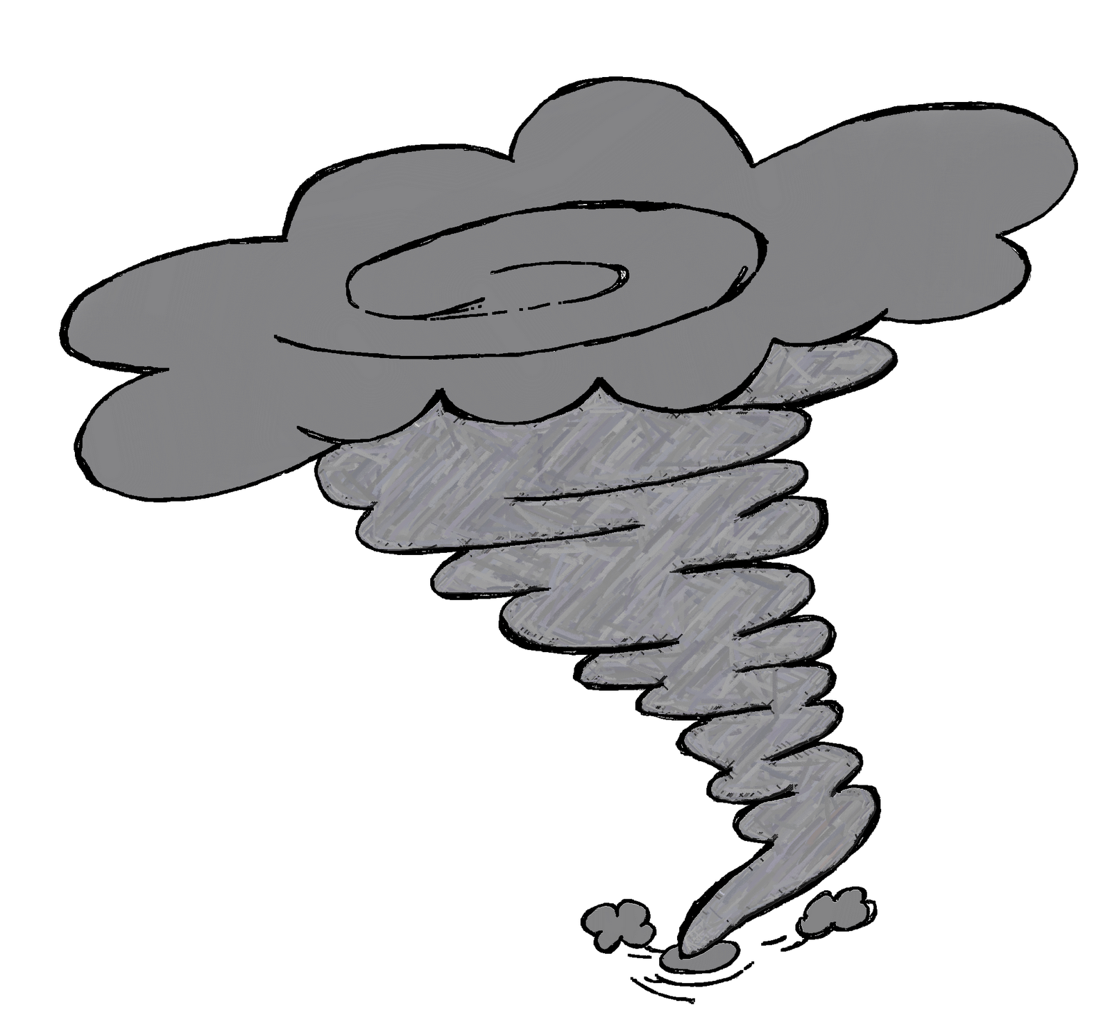 Tornado Clipart Black And White.