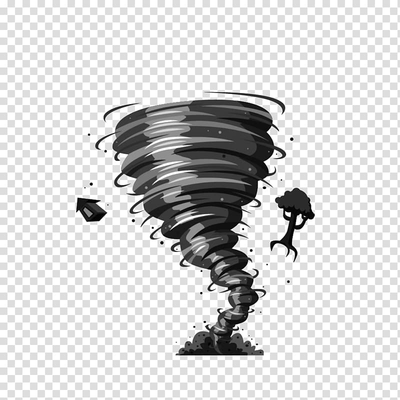 Black tornado art illustration, Tornadoes of 2018 Free.