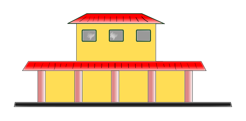 Free Clipart: Train station.