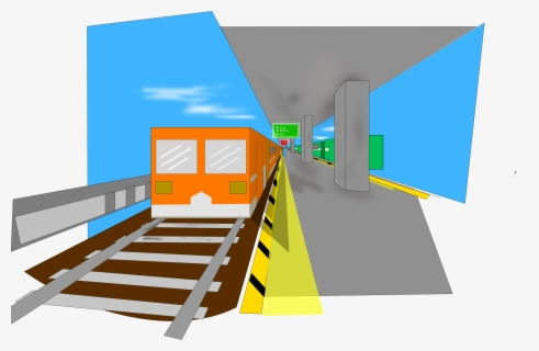 Free Train Station Clip Art with No Background.