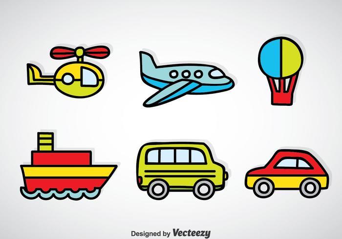Transportation Vehicle Cartoon Vector.