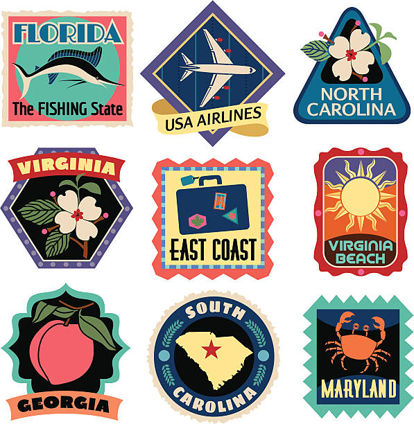Best Travel Sticker Illustrations, Royalty.