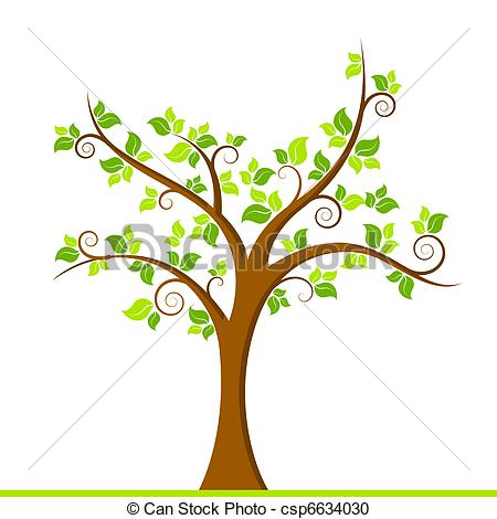 Vector Clipart of Green Tree.