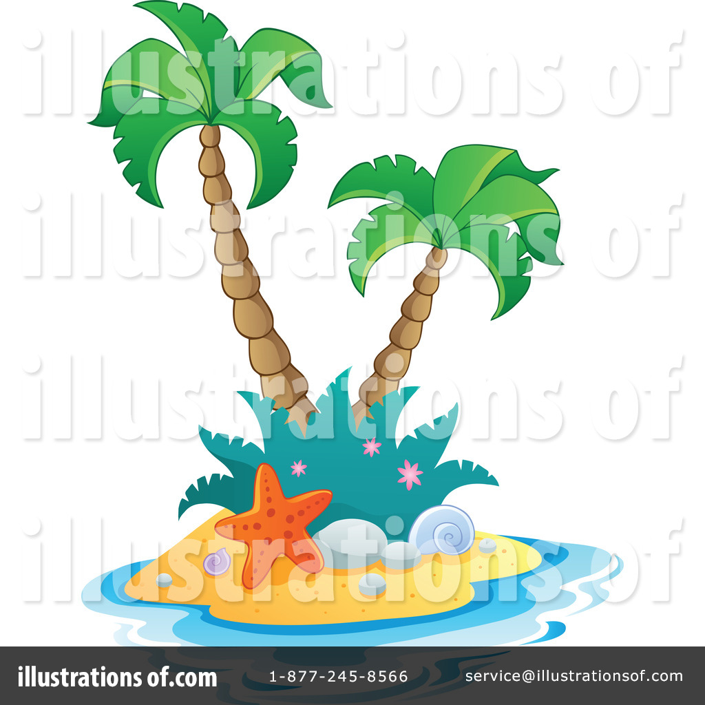 Tropical Island Clipart #1096976.