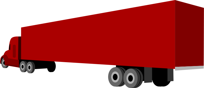 Free Clipart: Truck and trailer.