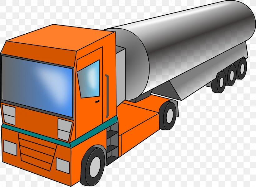 Milk Tank Truck Semi.