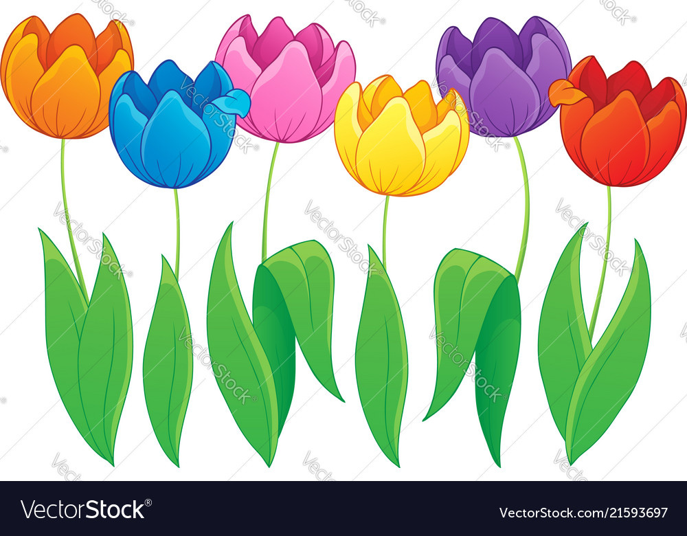 Image with tulip flower theme 2.