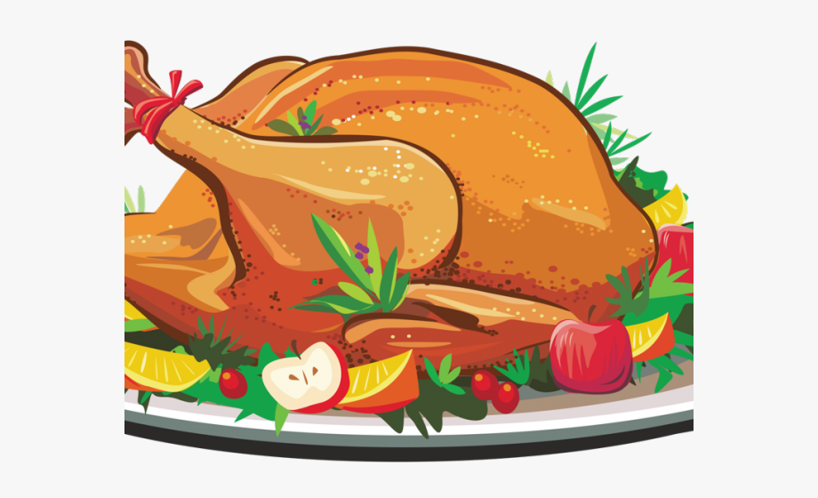 Thanksgiving Turkey Dinner Clipart , Transparent Cartoon.
