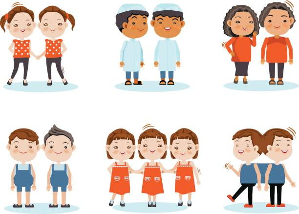 Fraternal Twins Clipart.