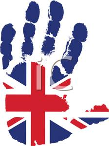 Flag of England Handprint.
