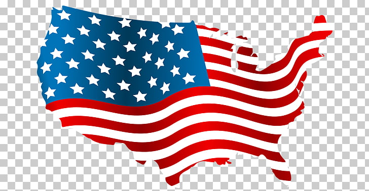 USA map PNG clipart.