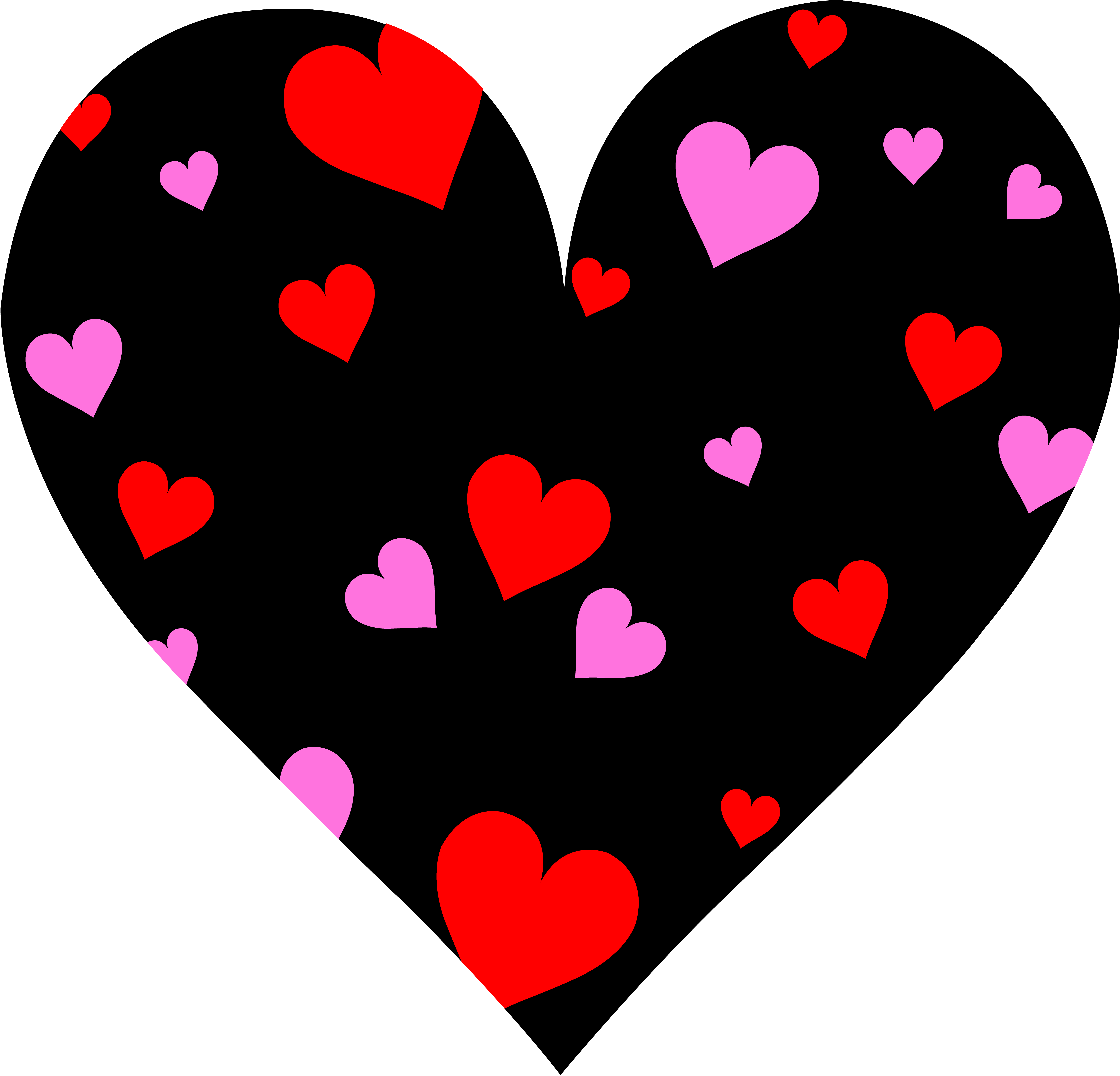 Cute Patterned Valentines Day Heart Free clipart free image.