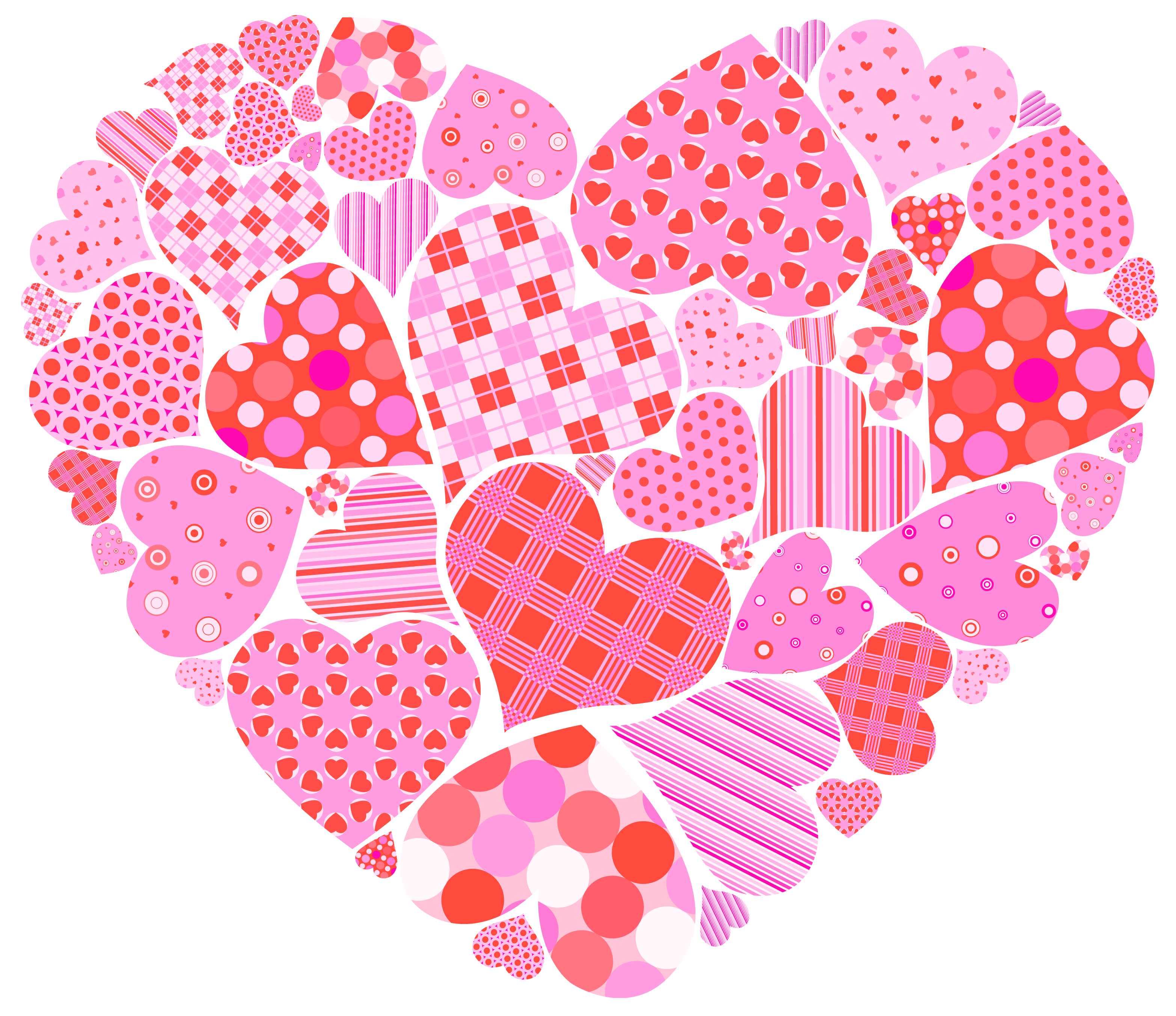 Valentines Day Heart of Hearts PNG Clipart Picture.