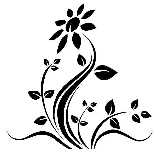 Flower vector design cdr, ai, eps file.
