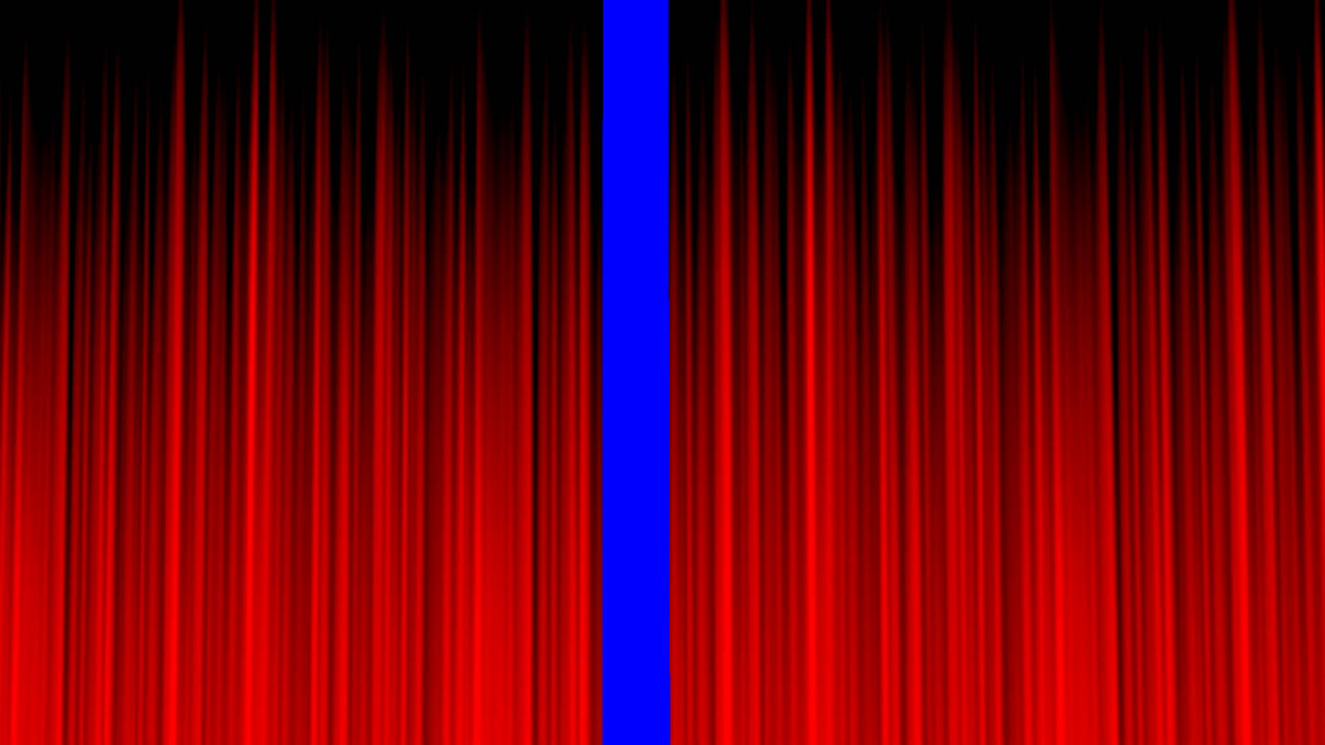 Stage Curtain Blue Screen Clean RED Royalty Free Video.