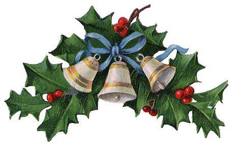 Christmas Clipart: Vintage Bells.