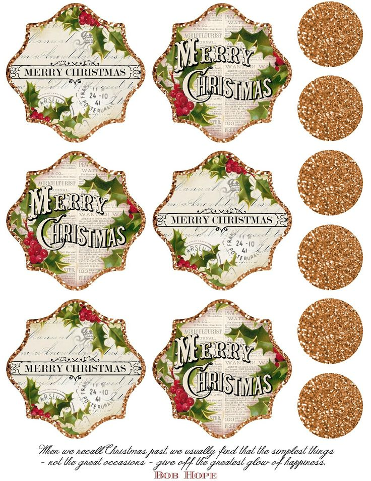 Free Clipart Vintage Christmas Tags For Gift Giving.