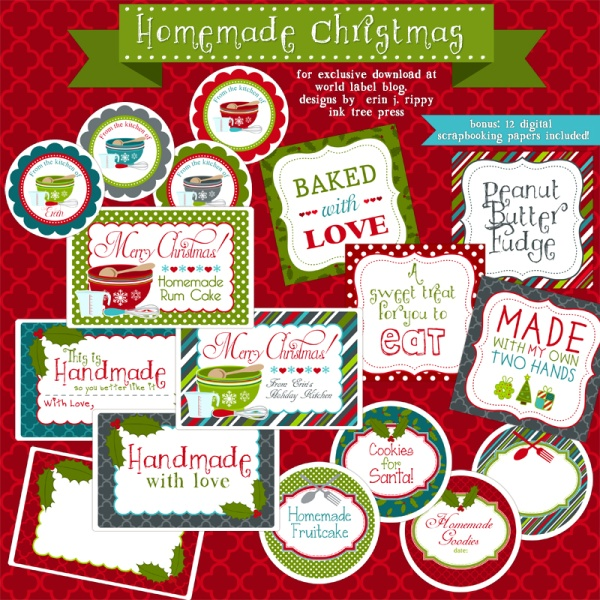 Enjoy these really fun FREE printable labels for homemade baked.