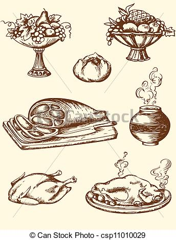 Vintage Food Clipart Free.