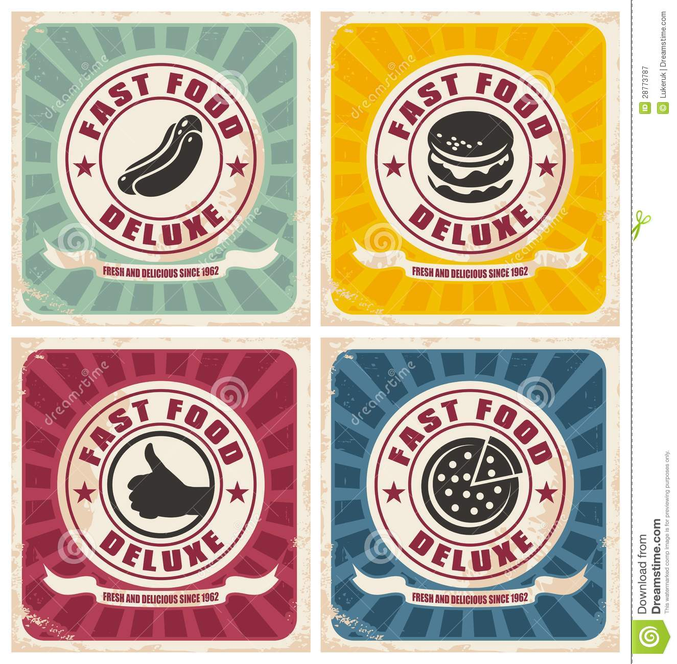 Free Clipart Vintage Food Signs.