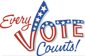 Your Vote Counts Clipart.