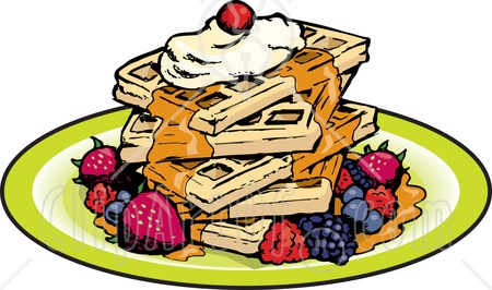 121 Waffles free clipart.