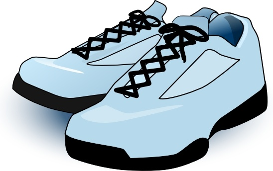 Tennis Shoes clip art Free vector in Open office drawing svg.