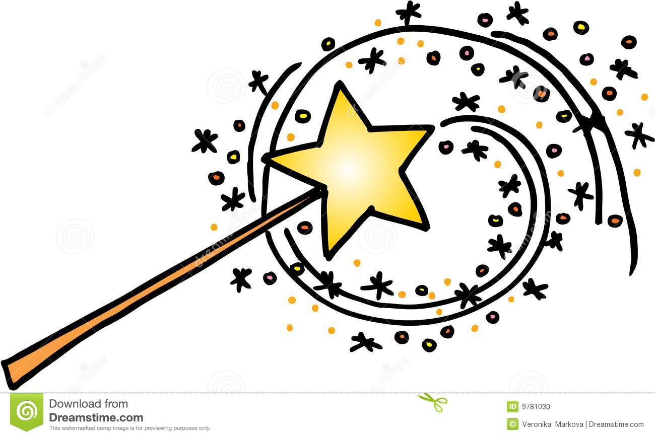Magic wand stock vector. Illustration of stars, fairy.