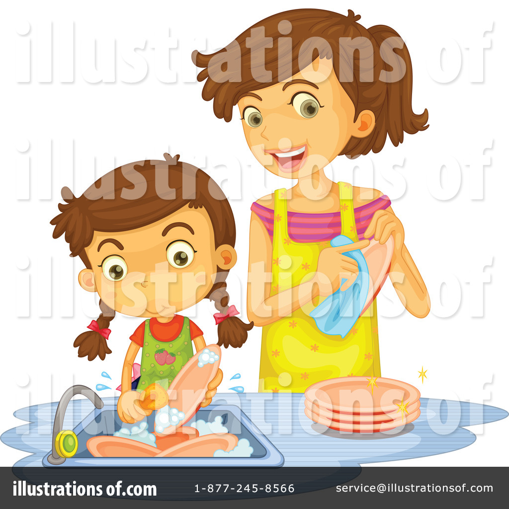 Washing Dishes Clipart #1140307.
