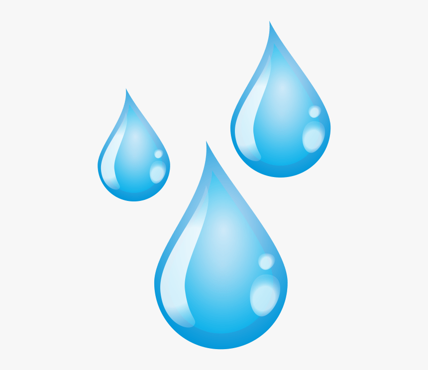 Transparent Background Water Droplet Clipart.