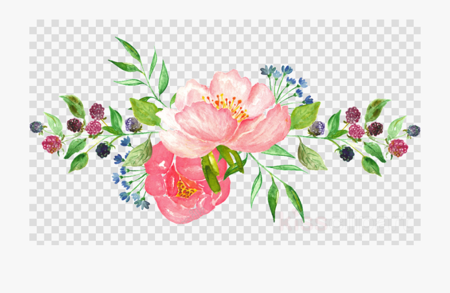 Flower Clipart Png Watercolor.