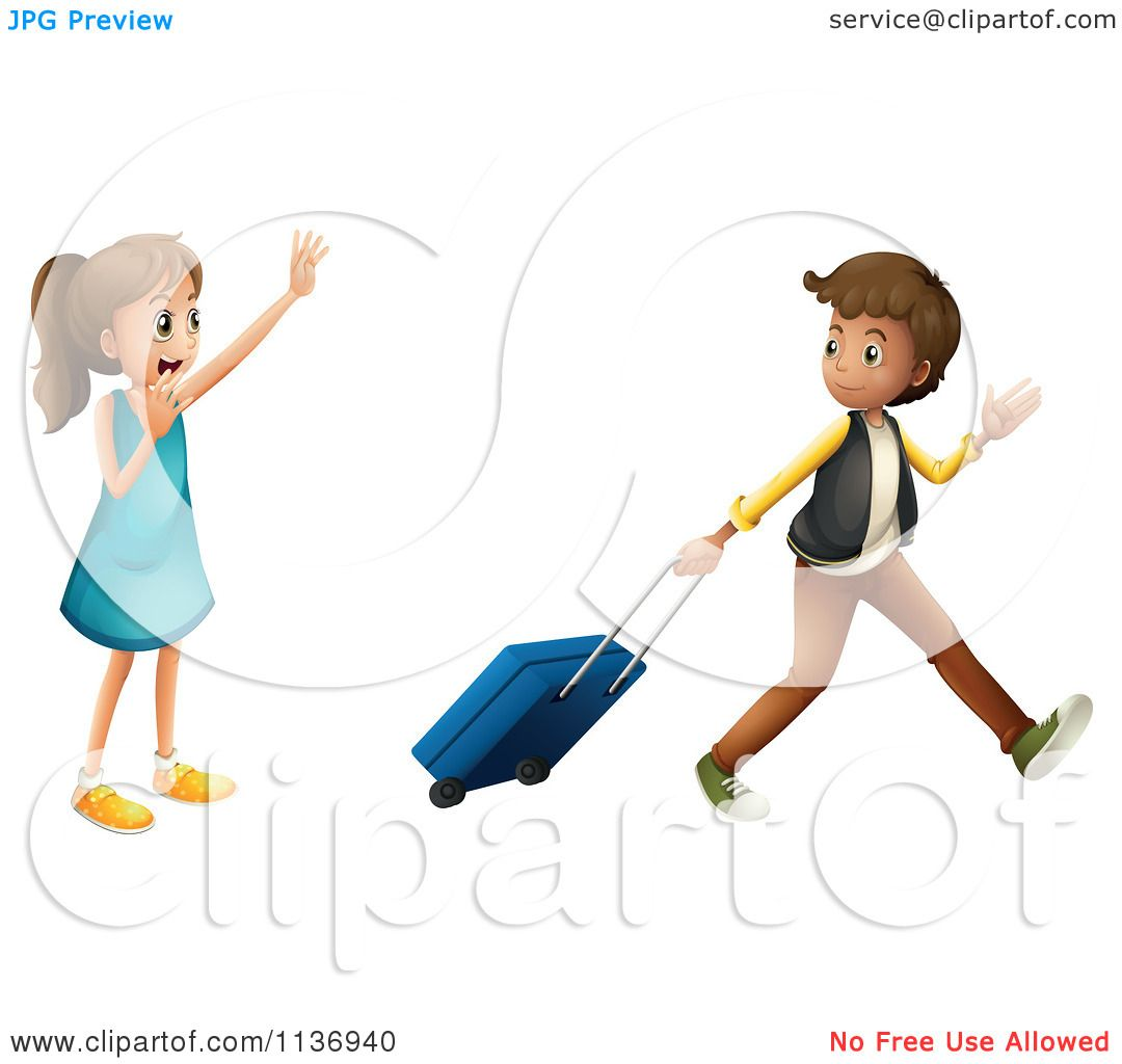 free clipart waving goodbye #13
