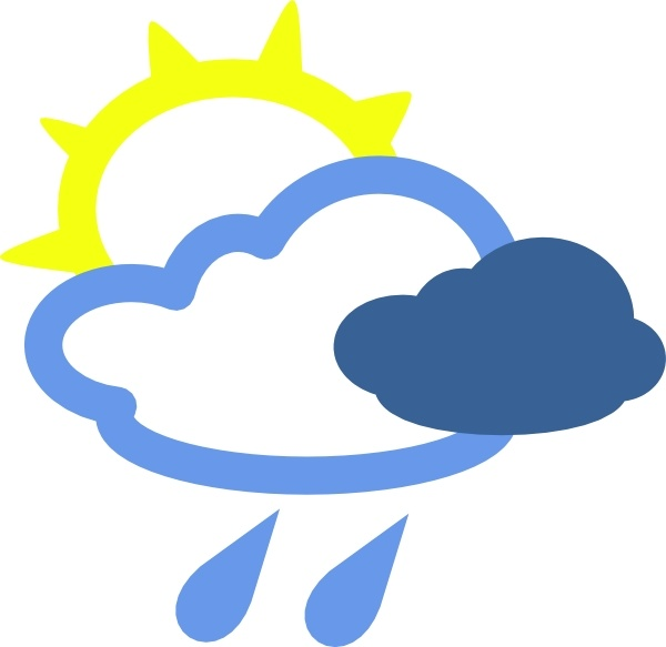 Sun And Rain Weather Symbols clip art Free vector in Open.