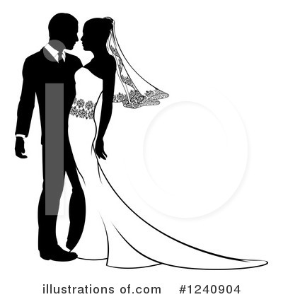 Wedding Couple Clipart #1240904.