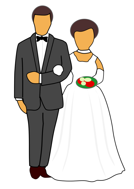 Free Clipart: Wedding Couple.