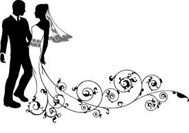 Wedding Couple Black And White Clipart Vector Bride Groom.