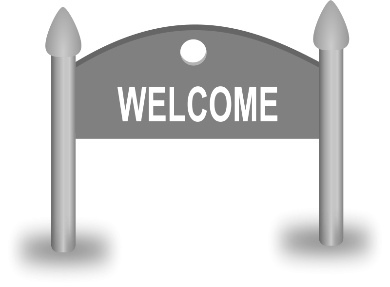 Free Clipart: Welcome Sign board.