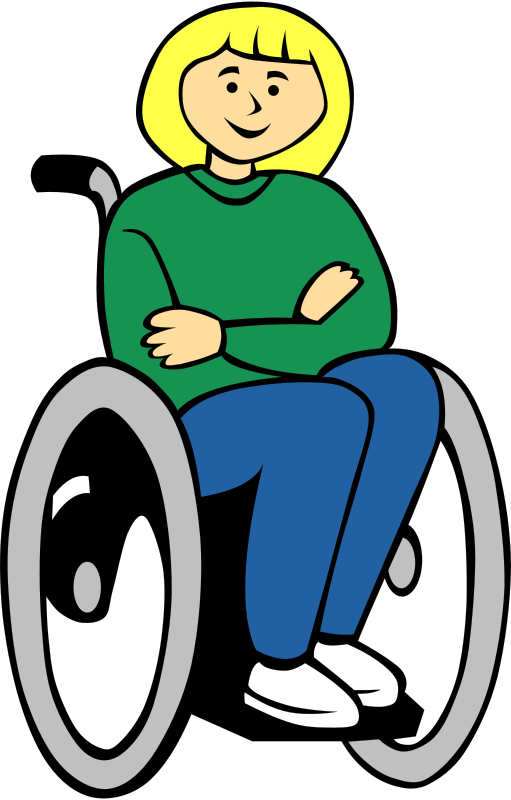 Free Clipart: Girl in wheelchair.