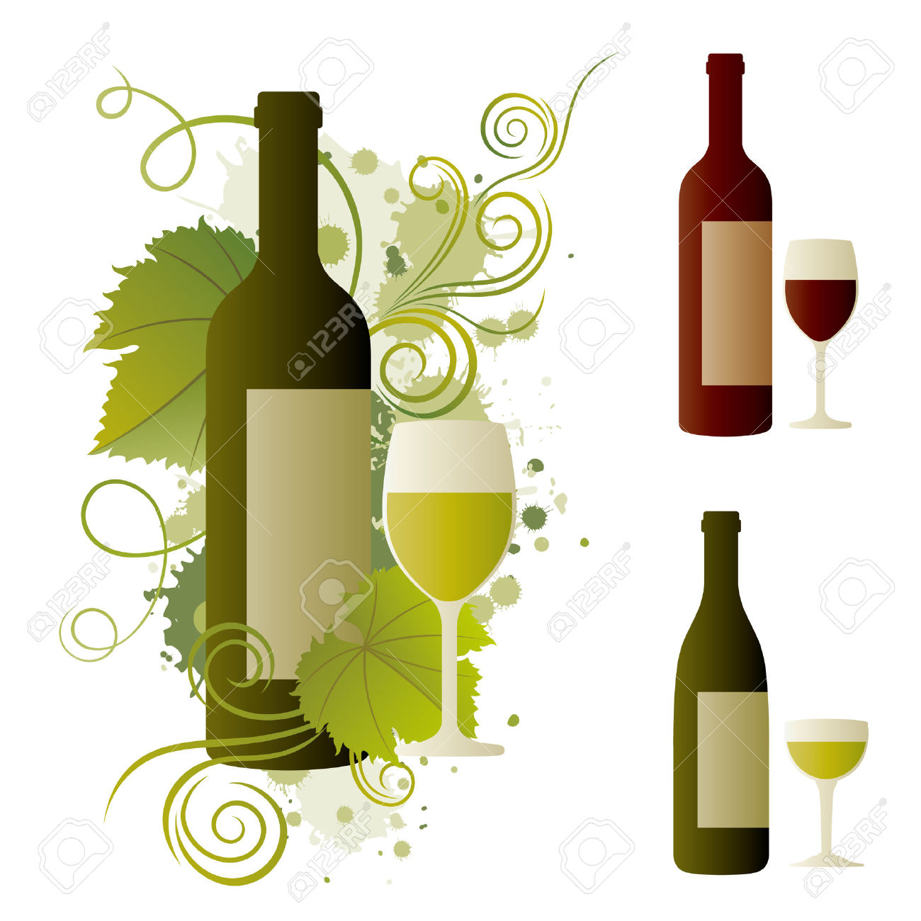 Free Clipart Wine Glasses And Bottles.