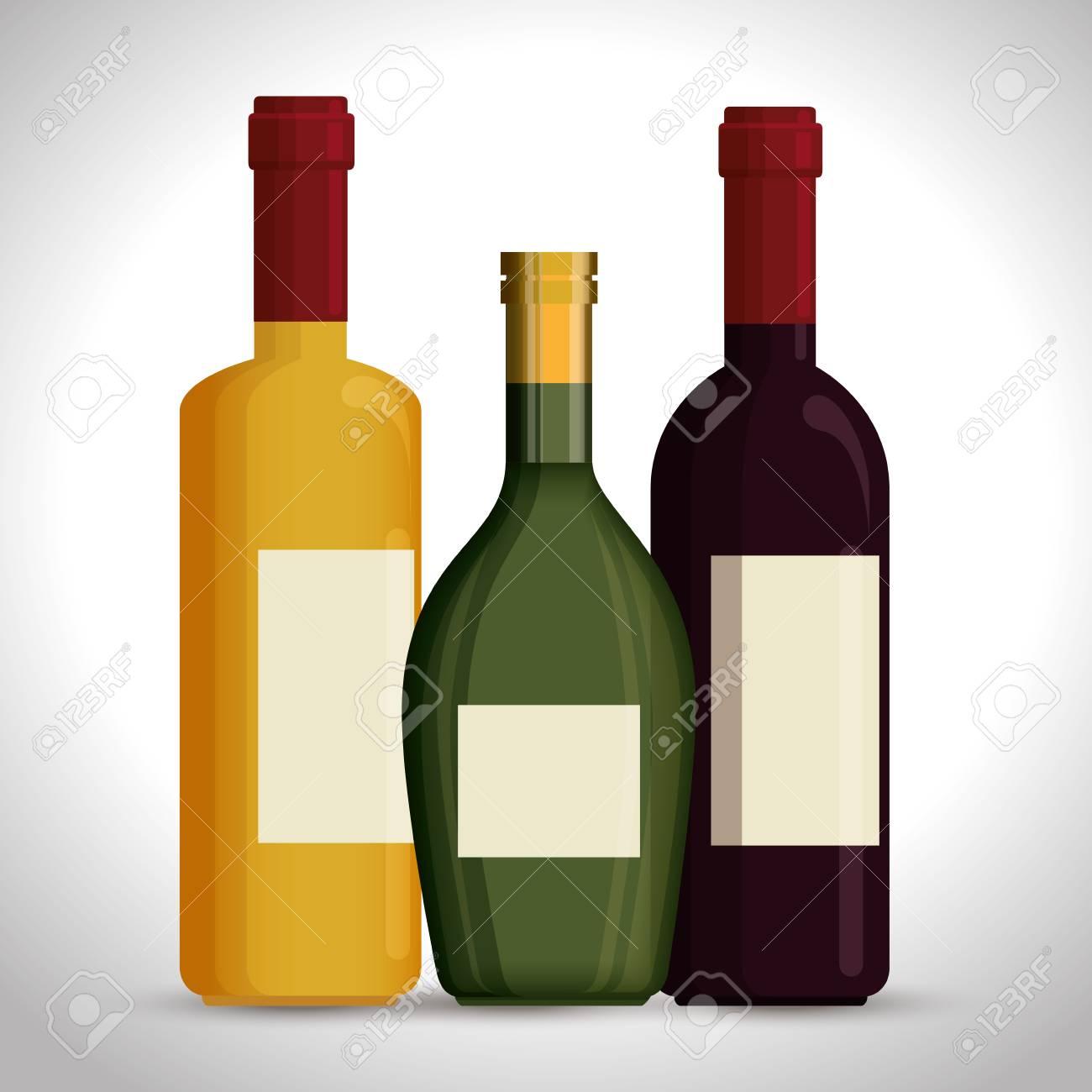 red wine bottles label vector illustration design.