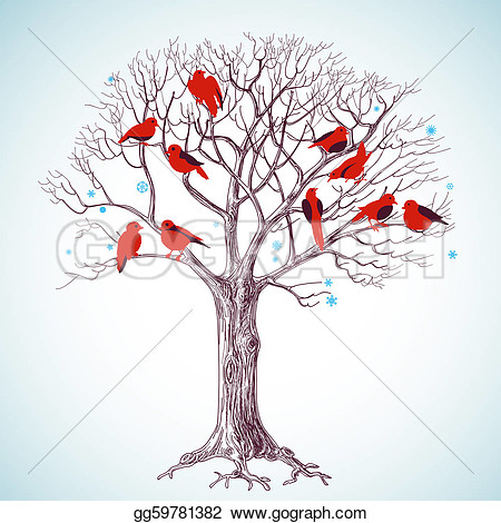 Free Clipart Winter Tree.