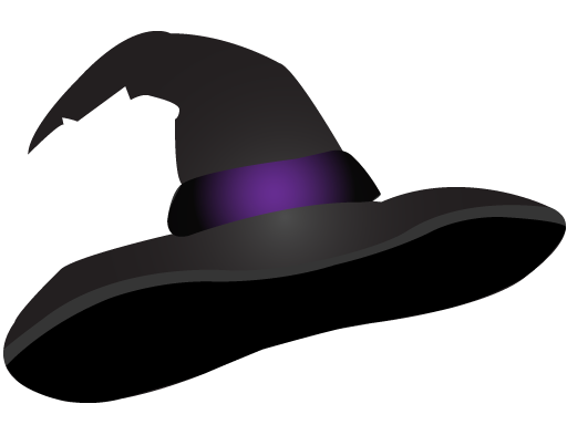 884 Witch Hat free clipart.