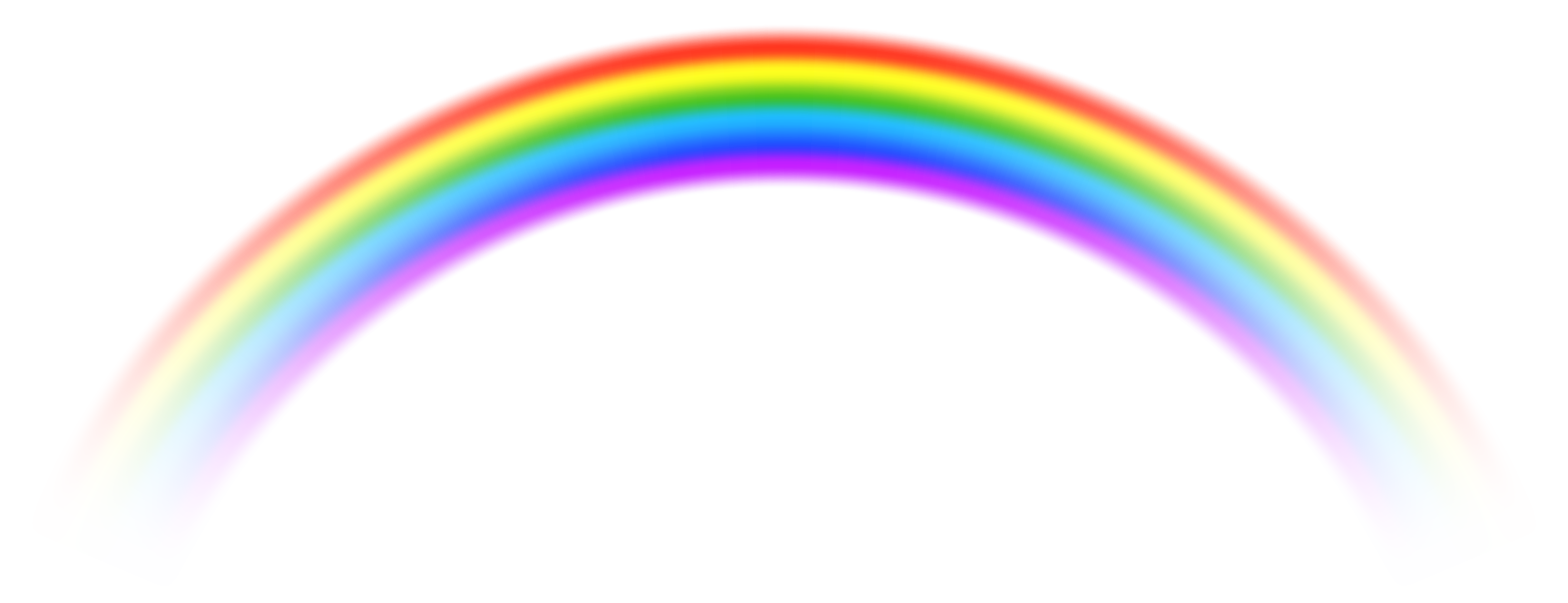 Transparent Rainbow PNG Free Clip Art Image.