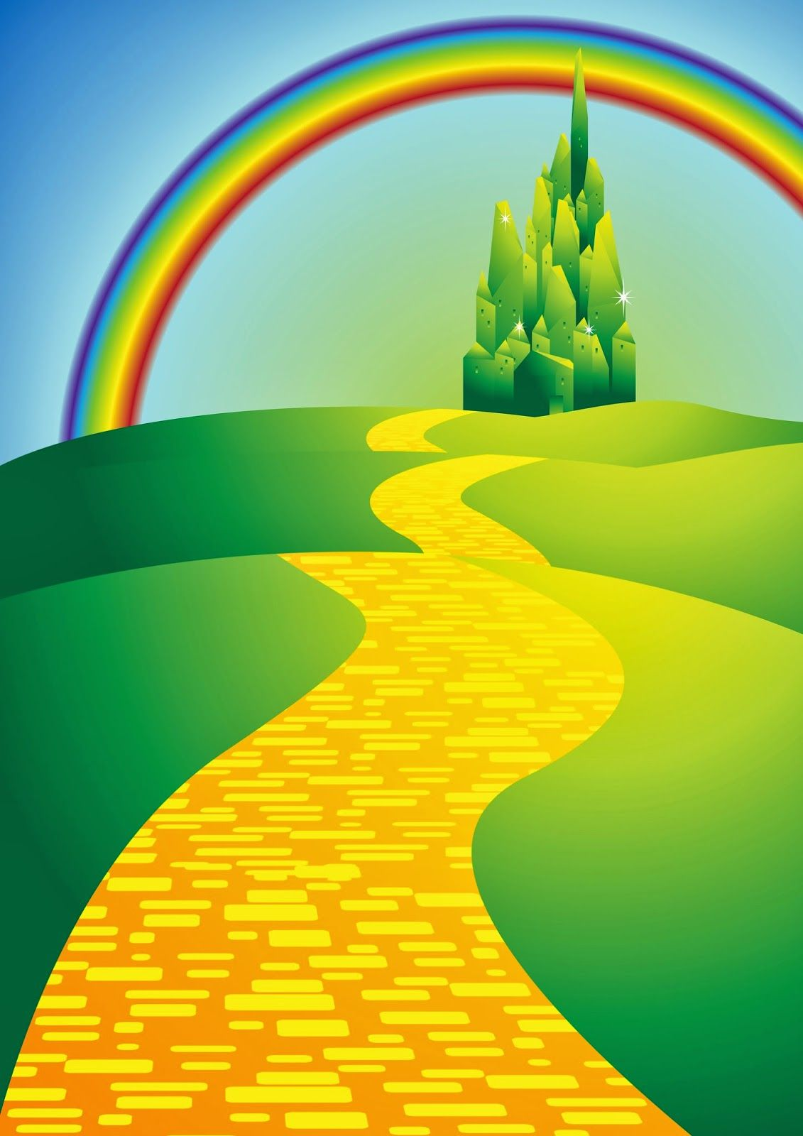 Wizard Of Oz Clipart yellow brick road 1.