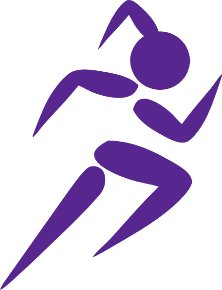 Free Clip Art Running Woman.