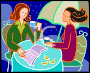 Of Two Women Shopping Clipart.