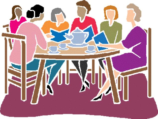 Free Download Clipart Women Around Table.