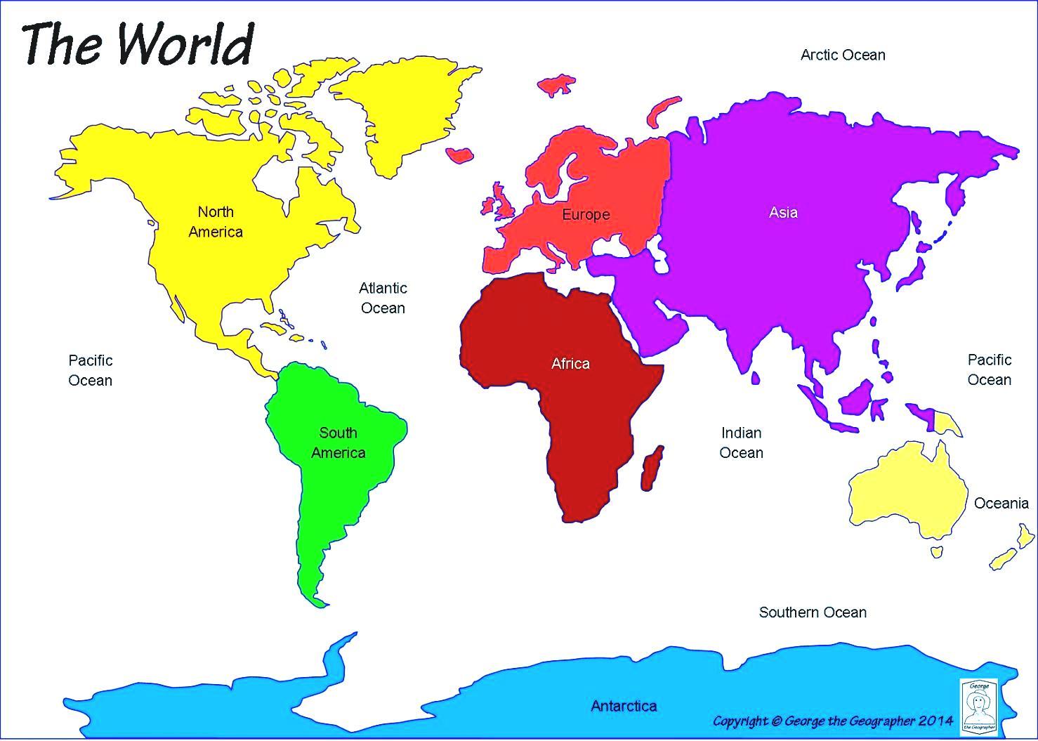 World Map Continents Vector Globe Royalty Free Cliparts Vectors.